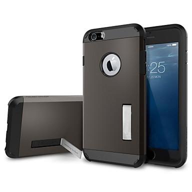 ficar alumínio armadura caso híbrida de metal TPU fino para iphone 6s 6 mais