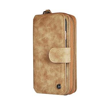 Mert Kártyatartó / Pénztárca / Ütésálló / Állvánnyal / Flip Case Teljes védelem Case Egyszínű Kemény Műbőr AppleiPhone 7 Plus / iPhone 7