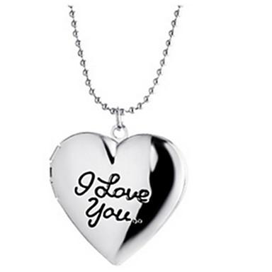 Naisten Riipus-kaulakorut Heart Shape Kupari Yksinkertainen Love Alkuperäinen korut Personoitu Korut Käyttötarkoitus Party Kausaliteetti
