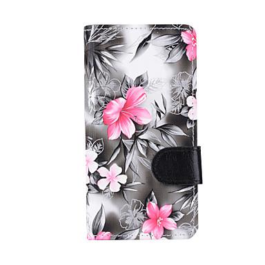 tok Για Samsung Galaxy J7 (2016) J5 (2016) Πορτοφόλι Θήκη καρτών με βάση στήριξης Ανοιγόμενη Πλήρης Θήκη Λουλούδι Σκληρή PU δέρμα για J7