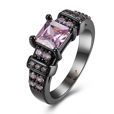 Γυναικεία Δαχτυλίδι Cubic Zirconia Πολυτέλεια Ζιρκονίτης Χαλκός Τιτάνιο Ατσάλι Βολφραμιούχος Χάλυβας Προσομειωμένο διαμάντι Κοσμήματα