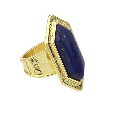 Pierścionki Casual Biżuteria Stop Damskie Duże pierścionki 1szt,Jeden rozmiar Niebieski