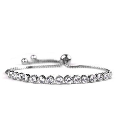 Damskie Bransoletki i łańcuszki na rękę Modny luksusowa biżuteria Cyrkon Cyrkonia Kryształ górski Biżuteria Na Codzienny