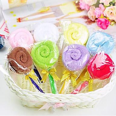 doğum günü hediyesi lolipop şekil lif yaratıcı havlu (rastgele renk)