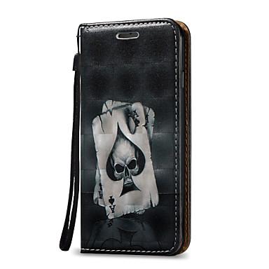 Custodia Per Apple iPhone 7 / iPhone 6 / Custodia iPhone 5 Porta-carte di credito / Con supporto / Con chiusura magnetica Integrale Teschi Resistente pelle sintetica per iPhone 7 Plus / iPhone 7