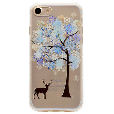 Pouzdro Uyumluluk Apple iPhone 6 iPhone 7 Plus iPhone 7 Şoka Dayanıklı Temalı Süslü Arka Kapak ağaç Yumuşak TPU için iPhone 7 Plus iPhone