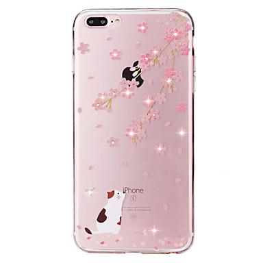 إلى حجر كريم / شفاف / نموذج غطاء غطاء خلفي غطاء قطة ناعم TPU إلى Apple فون 7 زائد / فون 7