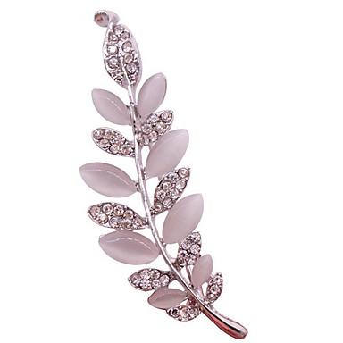 Γυναικεία Καρφίτσες κοσμήματα πολυτελείας κοστούμι κοστουμιών Προσομειωμένο διαμάντι Οπάλιο Φτερό Κοσμήματα Για Καθημερινά