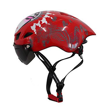 Bike Helmet CE Ποδηλασία 6 Αεραγωγοί Ρυθμιζόμενο Επικίνδυνο άθλημα One Piece Αεροδυναμικό κράνος Κράνος με Googles Βουνό Αστικό Πολύ