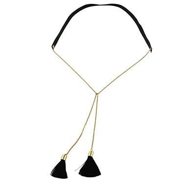 نساء قلائد الحلي مجوهرات سبيكة تصميم بسيط موضة أسود مجوهرات إلى فضفاض 1PC