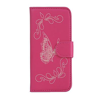 tok Για LG K8 LG LG K5 LG K10 LG K7 LG G5 Θήκη καρτών Πορτοφόλι με βάση στήριξης Ανοιγόμενη Ανάγλυφη Πλήρης Θήκη Πεταλούδα Σκληρή PU δέρμα