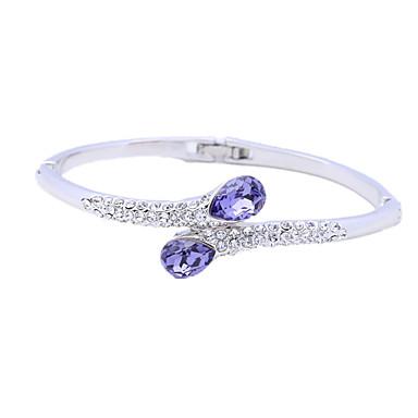 Kadın Bilezikler Halhallar Moda Kişiselleştirilmiş Kristal Mücevher Mücevher Uyumluluk Düğün Parti Doğumgünü Günlük