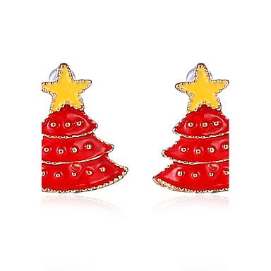 Pentru femei Dame Cercei Stud Chrismas Cute Stil Aliaj Bijuterii Pentru Petrecere Zilnic Cadouri de Crăciun