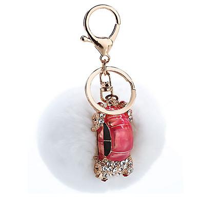 Brelok do kluczy Zabawki Brelok do kluczy Kula Metal Plusz 1 Sztuk Dla dziewczynek Boże Narodzenie Urodziny Walentynki Prezent