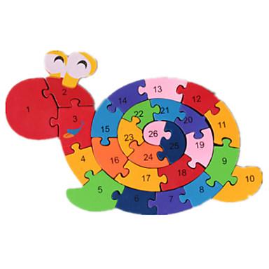 Puzzle Cegiełki DIY Zabawki 1 Drewniany