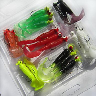 21pcs buc Momeală moale Δόλωμα Momeală moale Plastic moale Pescuit mare Pescuit de Apă Dulce