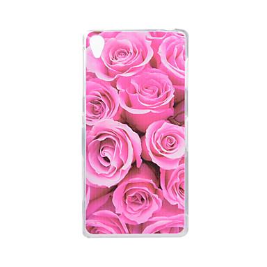Do Sony Xperia z5 z3 pokrowiec na kwiaty wzór z tyłu obudowa miękka tpu