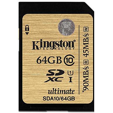 Kingston 64GB SD Kart hafıza kartı UHS-I U1 Sınıf 10 ultimate