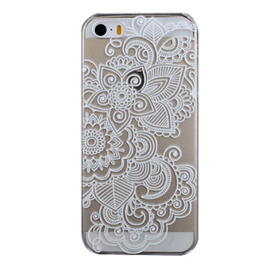 hoesje Voor iPhone 5 hoesje Transparant Patroon Achterkantje Lace Printing Hard PC voor iPhone SE/5s iPhone 5