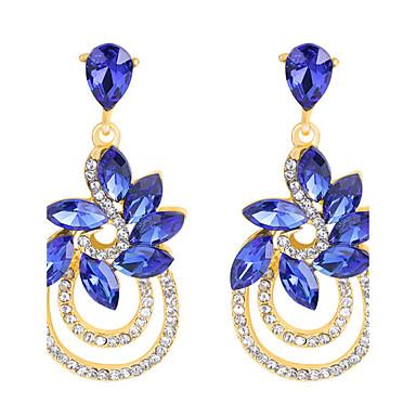Dame Cercei Picătură Sapphire sintetic Cristal Ștras Bijuterii Pentru Nuntă Petrecere Zilnic