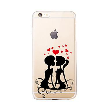 Για Διαφανής / Με σχέδια tok Πίσω Κάλυμμα tok Καρδιά Μαλακή TPU για AppleiPhone 7 Plus / iPhone 7 / iPhone 6s Plus/6 Plus / iPhone 6s/6 /