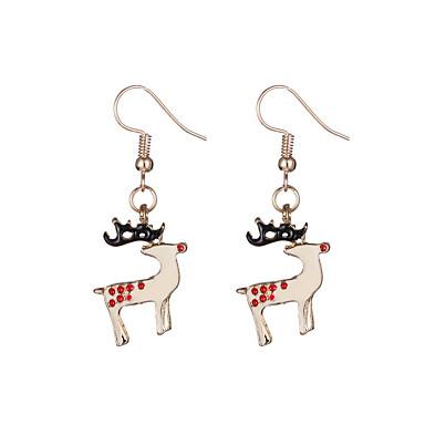Damla Küpeler Chrismas sevimli Stil alaşım Animal Shape Geyik Altın Mücevher Için Parti Günlük Yılbaşı Hediyeleri 1 çift