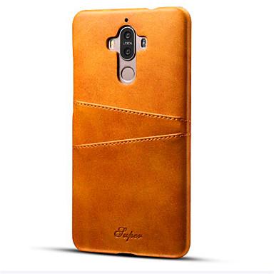 tok Για Huawei Θήκη καρτών Ανθεκτική σε πτώσεις Πίσω Κάλυμμα Συμπαγές Χρώμα Σκληρή PU δέρμα για Mate 9 Huawei