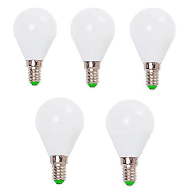 EXUP® 5pçs 7W 800lm E14 E26 / E27 Lâmpada Redonda LED G45 12 Contas LED SMD 2835 Decorativa Branco Quente Branco Frio 110-130V 220-240V