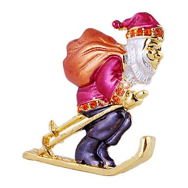 نساء ´بنات الفتيان دبابيس تقليد الماس الكريسمس ذهبي فوشيا مجوهرات حزب يوميا هدايا عيد الميلاد