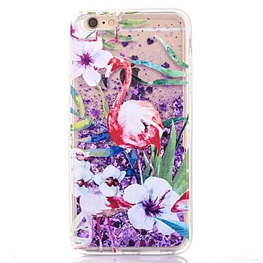 Uyumluluk iPhone 7 Kılıf iPhone 7 Plus Kılıf iPhone 6 Kılıf Kılıflar Kapaklar Akan Sıvı Arka Kılıf Pouzdro Flamingo Yumuşak TPU için Apple