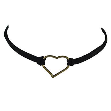 billige Halsbånd-Dame Kort halskæde Basale Mode Legering Sort Gul Brun Halskæder Smykker Til Afslappet