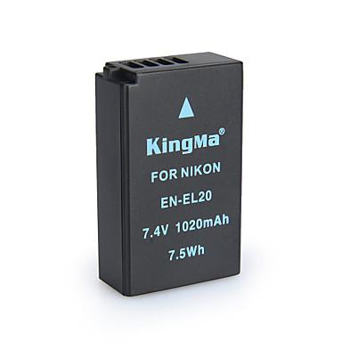 Kingma en-EL20 bmpcc bateria para câmera digital Nikon Coolpix uma J1 J2 J3 s1 AW1 mh-27