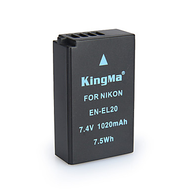 Kingma en-el20 bmpcc μπαταρία ψηφιακής κάμερας για Nikon Coolpix ένα j1 j2 j3 S1 AW1 MH-27