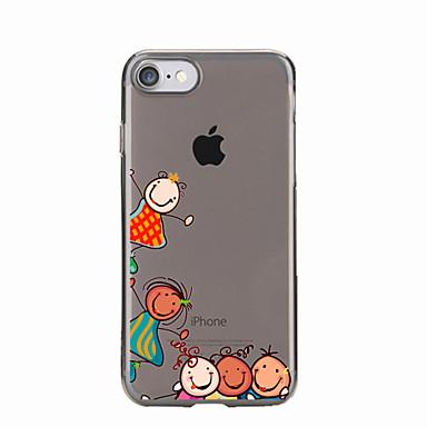 إلى شفاف / نموذج غطاء غطاء خلفي غطاء كرتون ناعم TPU إلى Appleفون 7 زائد / فون 7 / iPhone 6s Plus/6 Plus / iPhone 6s/6 / iPhone SE/5s/5 /