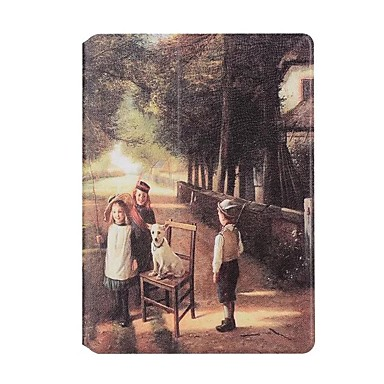 Maska Pentru Apple Titluar Card Origami Corp Plin city View Greu PU Piele pentru iPad Air 2 iPad Air