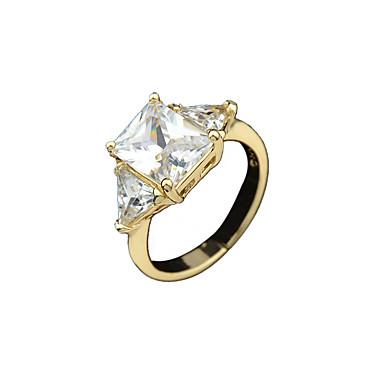 Pierscionek Stop Golden Biżuteria Na Codzienny 1szt