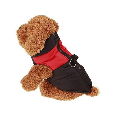 Собака Плащи / Жилет Одежда для собак Однотонный Зеленый / Синий / Розовый Нейлон Костюм Для домашних животных Муж. / Жен. Сохраняет тепло
