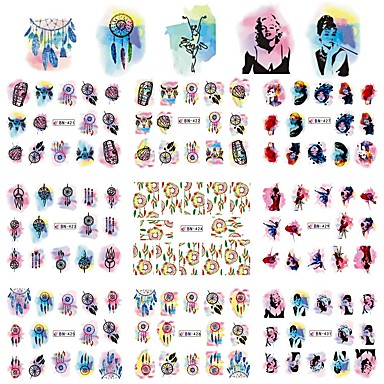 1 Sanat Sticker Nail Su Transfer Etiketi Makyaj Kozmetik Sanat Tasarım Nail