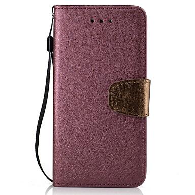 Etui Käyttötarkoitus Huawei Lomapkko Korttikotelo Flip Kokonaan peittävä Yhtenäinen väri Kova PU-nahka varten Huawei P9 Lite Huawei P8