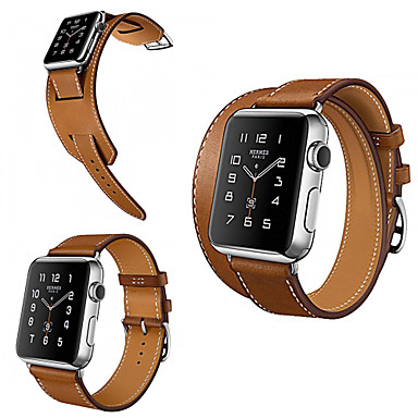 Недорогие Ремешки для Apple Watch-Ремешок для часов для Apple Watch Series 3 / 2 / 1 Apple Классическая застежка Натуральная кожа Повязка на запястье