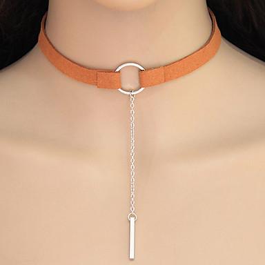 Dámské Geometrické Obojkové náhrdelníky tetování obojek dámy Geometrik Tetování Evropský Stříbrná Oranžová Zlatá Náhrdelníky Šperky Pro Ležérní