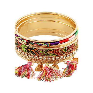 نساء أساور التفاف تقليد الماس سبيكة موضة أسلوب بانك ذهبي مجوهرات 1PC