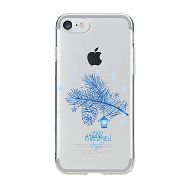 Kılıf Na Apple Etui iPhone 5 iPhone 6 iPhone 7 Przezroczyste Wzór Czarne etui Święta Bożego Narodzenia Miękkie TPU na iPhone 7 Plus