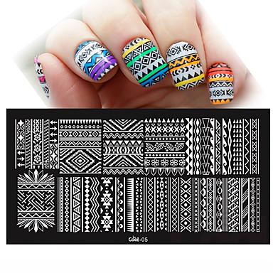 Nowy DIY 12x6 cm paznokci carimbo de carimbar modelos obraz polons unhas szablony do manicure