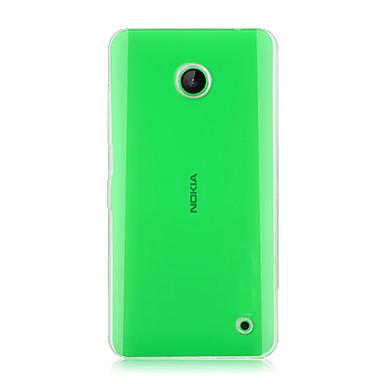Para Capinha Nokia Transparente Capinha Capa Traseira Capinha Cor Única Rígida PC Nokia Nokia Lumia 630