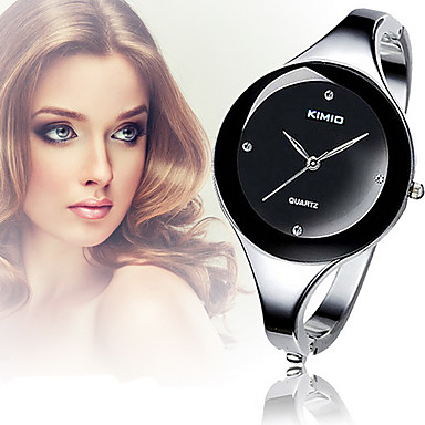 Per donna Orologio da polso Orologio braccialetto Orologio alla moda Orologio casual Quarzo imitazione diamante Lega Banda Elegant A