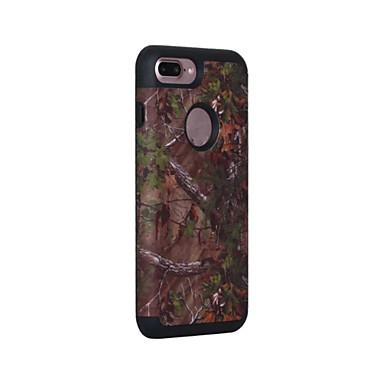 Etui Käyttötarkoitus Apple iPhone 6 iPhone 7 Plus iPhone 7 Pölynkestävä Iskunkestävä Suojakuori Yhtenäinen väri Kova Silikoni varten