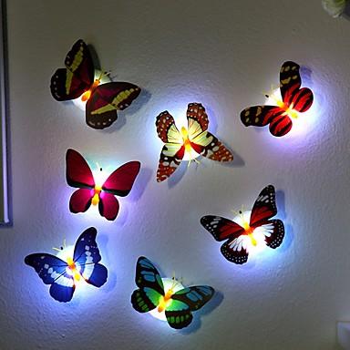 7 cores mudando borboleta levou noite luz lâmpada alta qualidade
