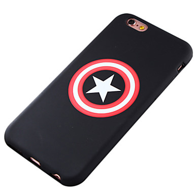 Capinha Para Apple iPhone 8 iPhone 8 Plus iPhone 6 iPhone 6 Plus Estampada Capa traseira Desenho Animado Macia TPU para iPhone 8 Plus