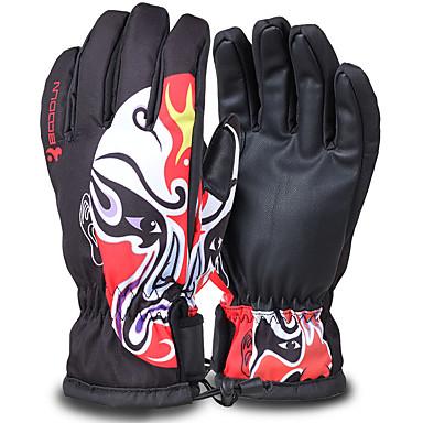 Rękawice narciarskie Męskie Damskie Full Finger Keep Warm Wodoodporny Quick Dry Wiatroodporna Odśnieżający Antypoślizg Sztuczna skóra